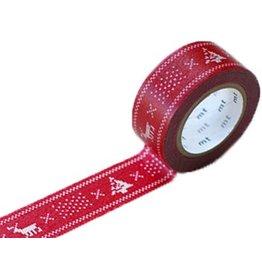 MT  MT masking tape Kerst knit red