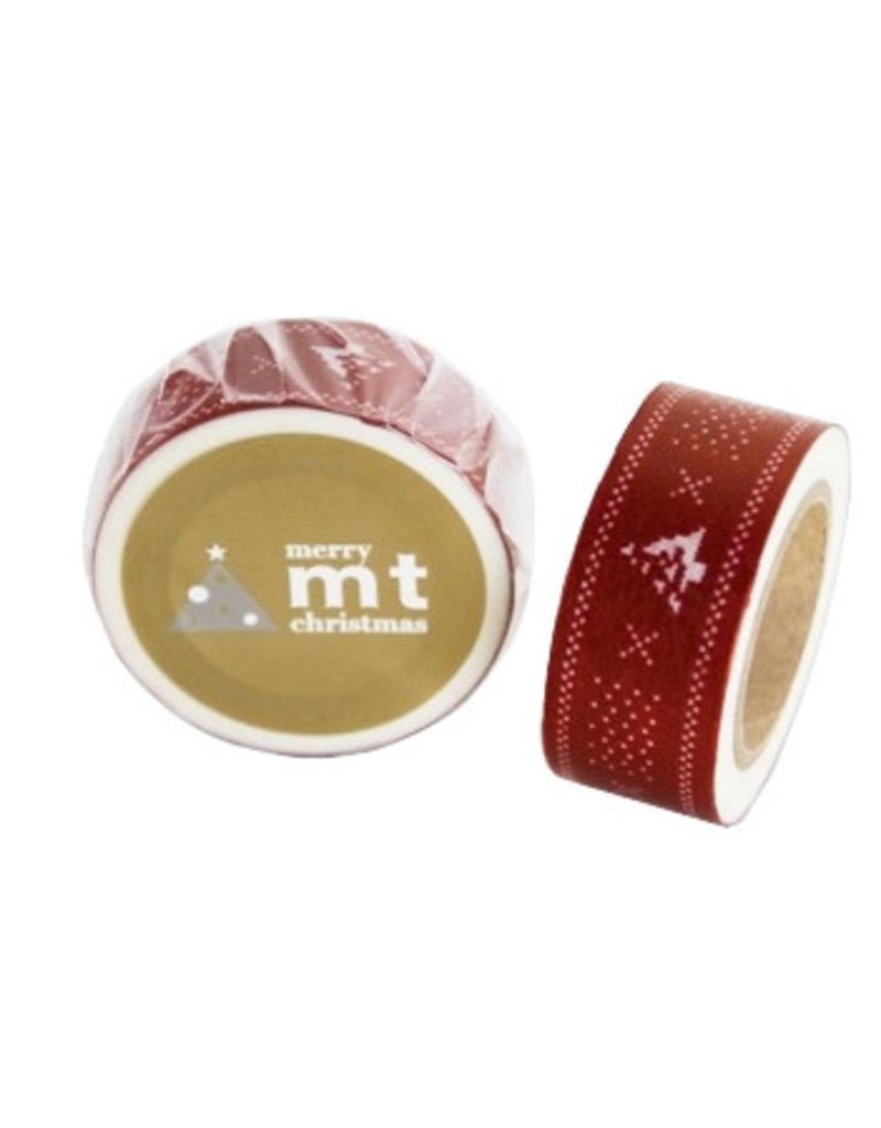 MT masking tape Kerst knit red