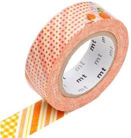 MT  MT masking tape ex flower orange