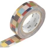 MT masking tape mosaic greyish