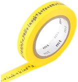 MT masking tape shiritori yellow