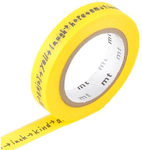 MT masking tape shiritori yellow