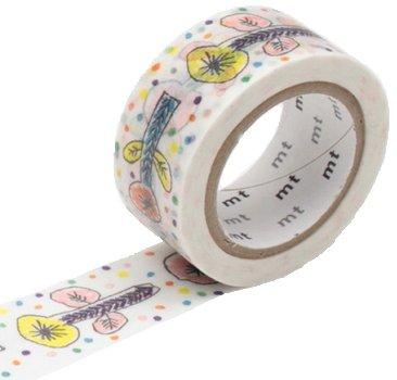 MT masking tape white flower