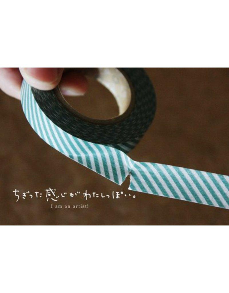 MT masking tape argyle green