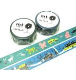 MT masking tape Skansen animals