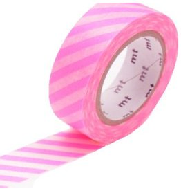 MT  MT washi tape stripe shocking pink