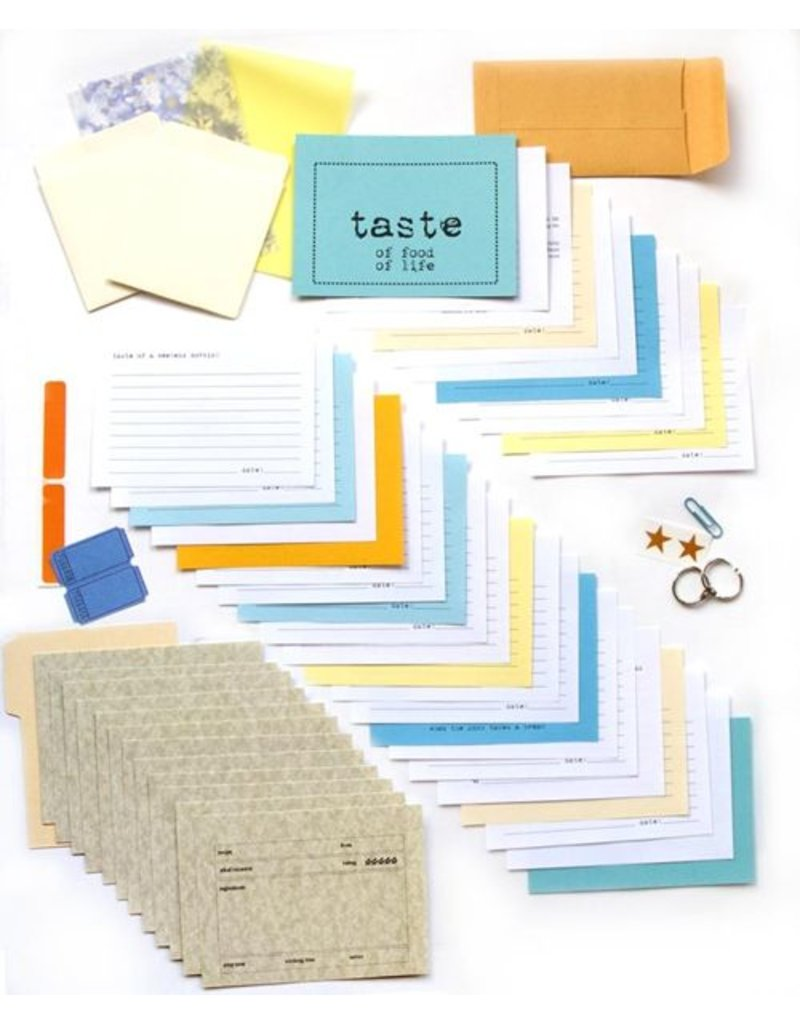 {Taste} ~ Aanvulling van 12 extra recepten - & 'remember when' kaarten