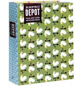 Reprodepot notecard book Folk & Flora