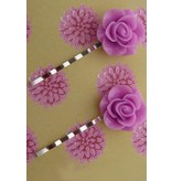 Hairpins pink roses