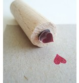 Stempel hartje met stempelkussentje