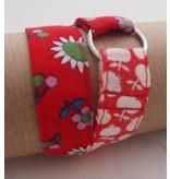 Wrap me armband Huisteil rood