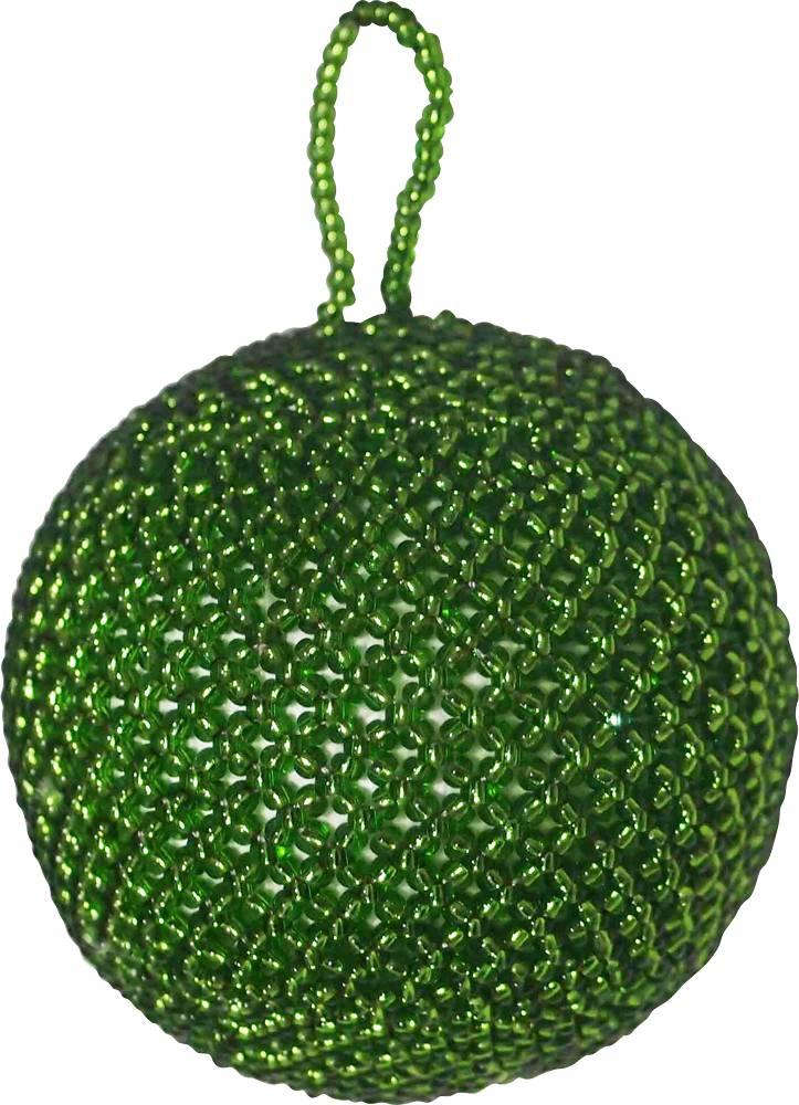 Kerstbal beads groen