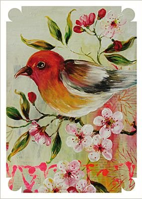 Ansichtkaart vogel