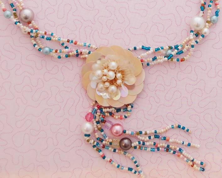 Ketting bloom pearl