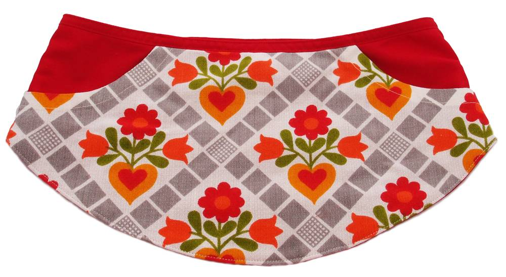 Double pocket apron Huisteil red S/M