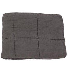 Mrs. Bloom Quilted cotton plaid dark grey
