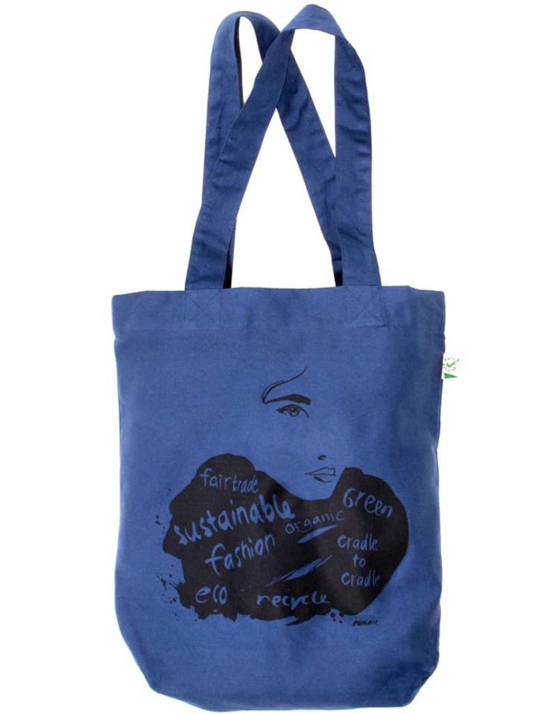Eco shopper blauw