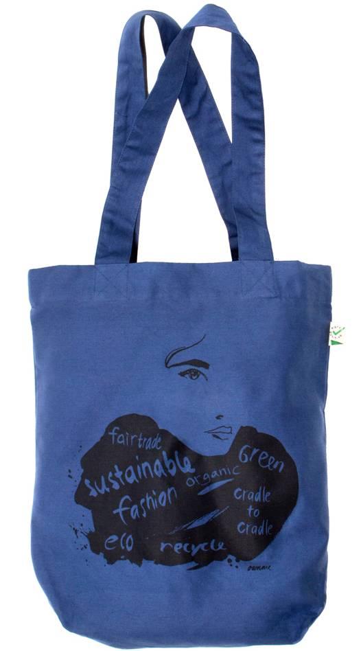 Eco shopper blauw