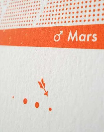 Zeefdruk Mars