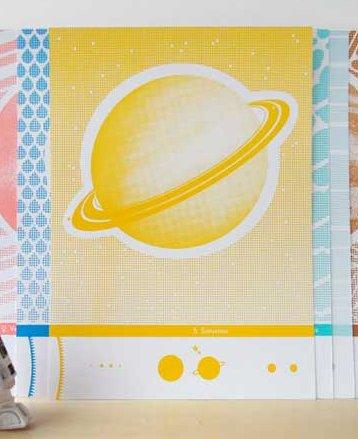 Zeefdruk Saturnus