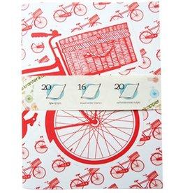 De krantenkapper Schrift transport bike