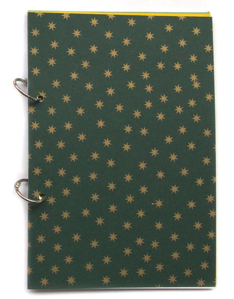 {Joy} christmas journal north star green