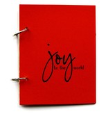 {Joy} christmas journal berry red