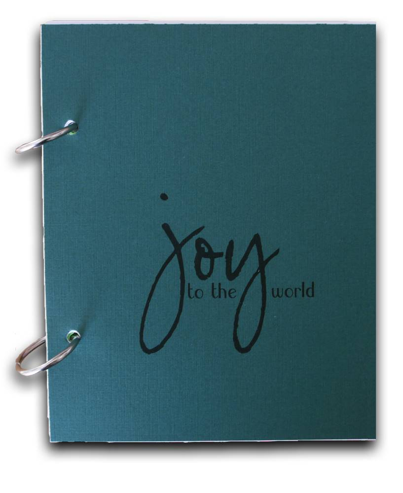 {Joy} christmas journal classic green