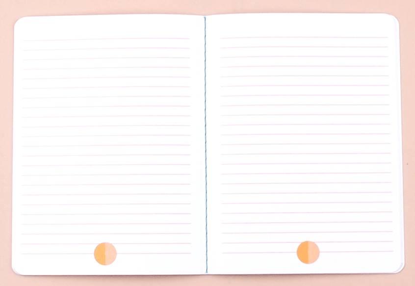 Set notebooks circles yellow