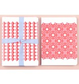 Set notebooks squares red