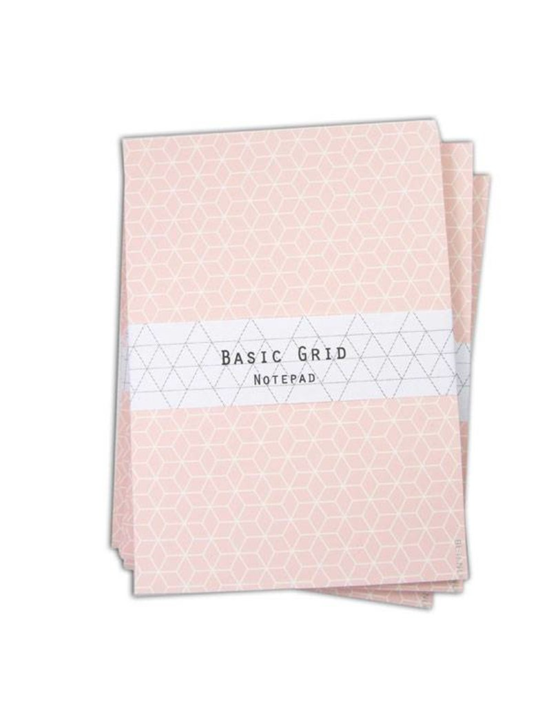 Notepad grid pink