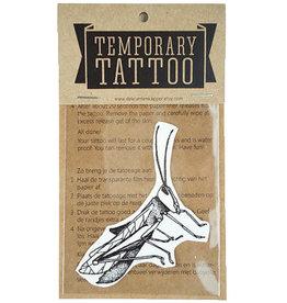 De krantenkapper Tattoo sprinkhaan zwart