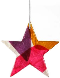 Ster triangle paars-rose-geel