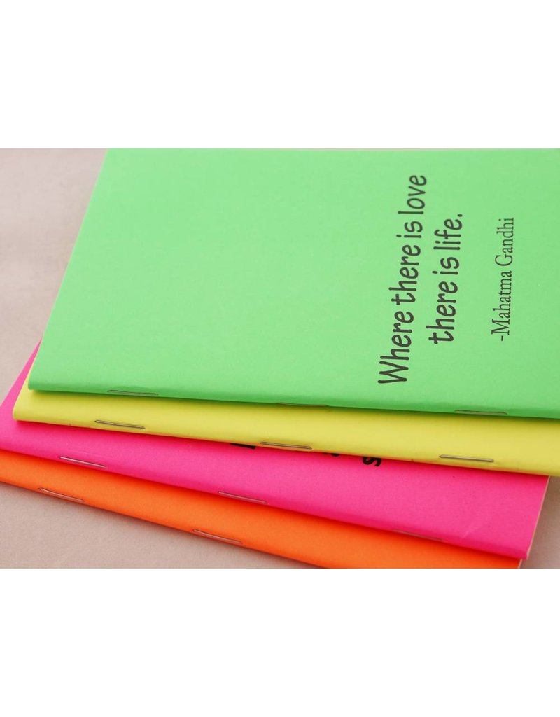 Minischrift optimist groen