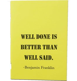 Minischrift optimist geel