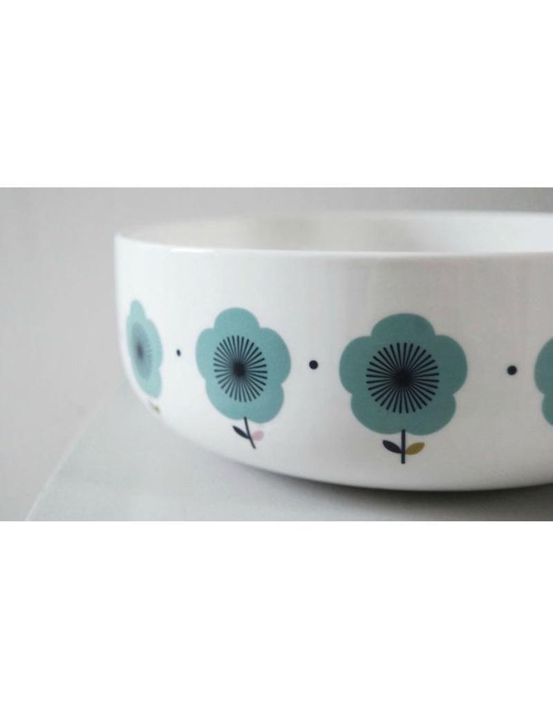 Porseleinen schaal retro fleurs