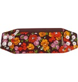 Zipper bracelet vintage brown M/L