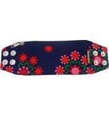 Zipper bracelet funky flowers M/L