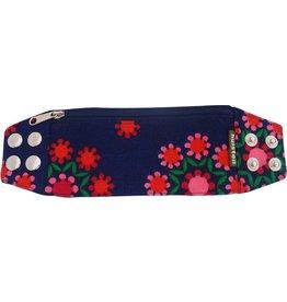Huisteil creaties Zipper bracelet funky flowers M/L