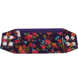 Huisteil creaties Zipper bracelet purple flowery M/L