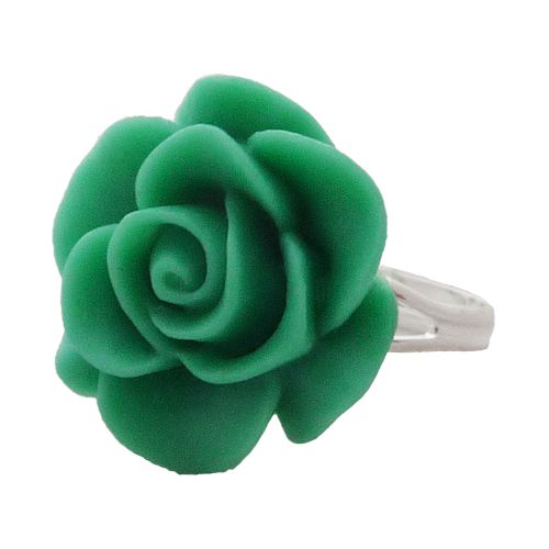 Ring light green rose
