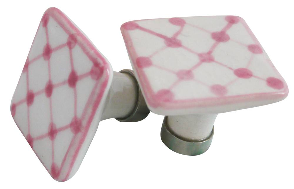 Deurknopje keramiek roze