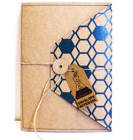 Envelope notebook blauw