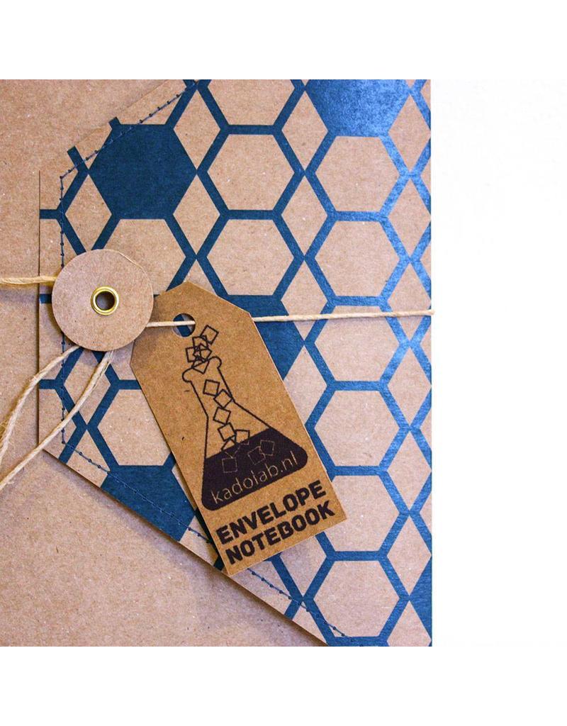 Envelope notebook blauw