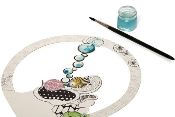 3D kleurplaat l'aquarium