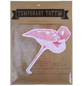 De krantenkapper Tattoo flamingo