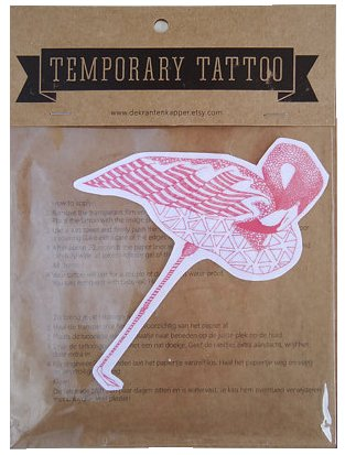 Tattoo flamingo