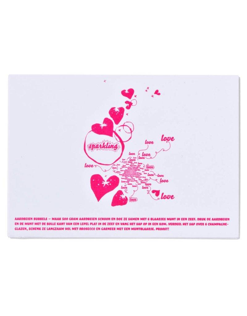 Kaart Sparkling love