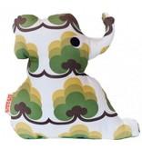 Knuffel olifant groen