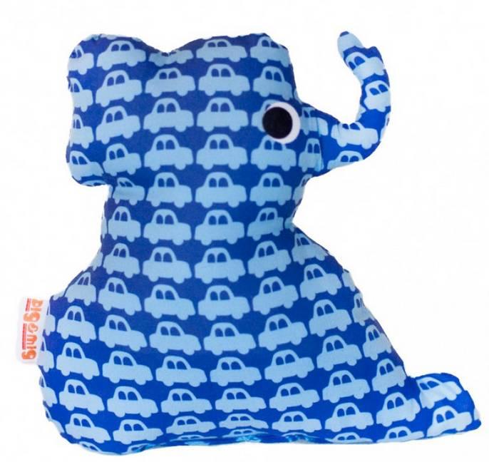 Knuffel olifant auto